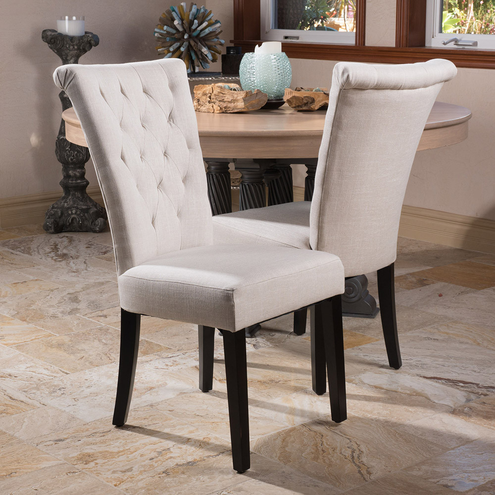 Tufted Dining Chair | Ring Back Dining Chair | Ivory Dining Chairs