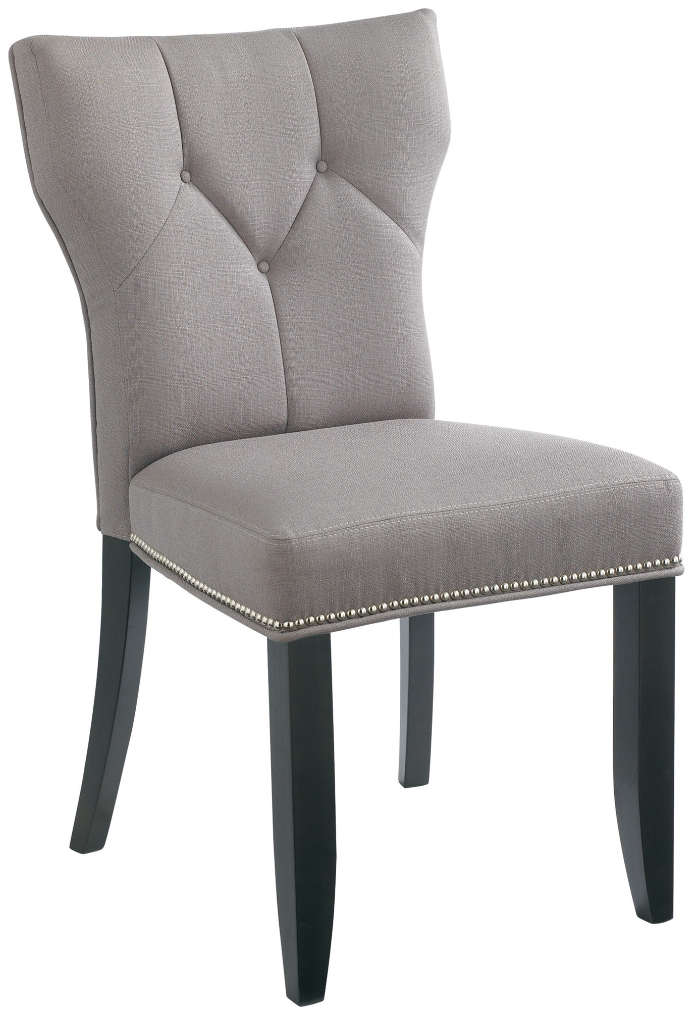 Cheap grey dining chairs dining room enchanting tufted for Modern dining room chairs cheap