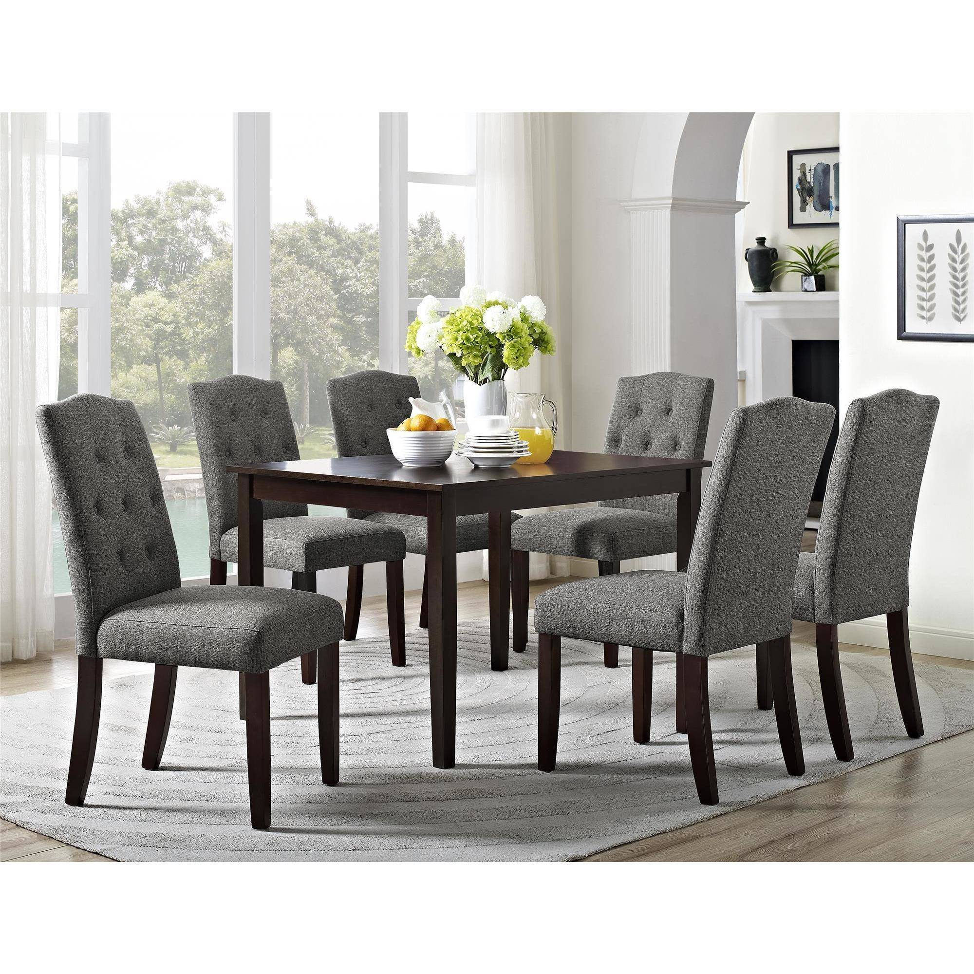 Dining Room Enchanting Tufted Dining Chair For Home