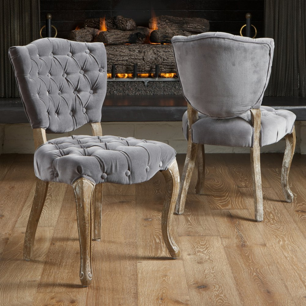 Tufted Dining Chair | Upholstered Parsons Chairs | Tufted Leather Dining Room Chairs