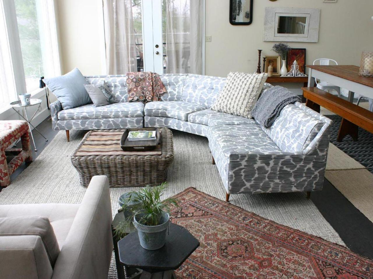 Tufted Sectional | Large Sectional Sofas | Curved Couch