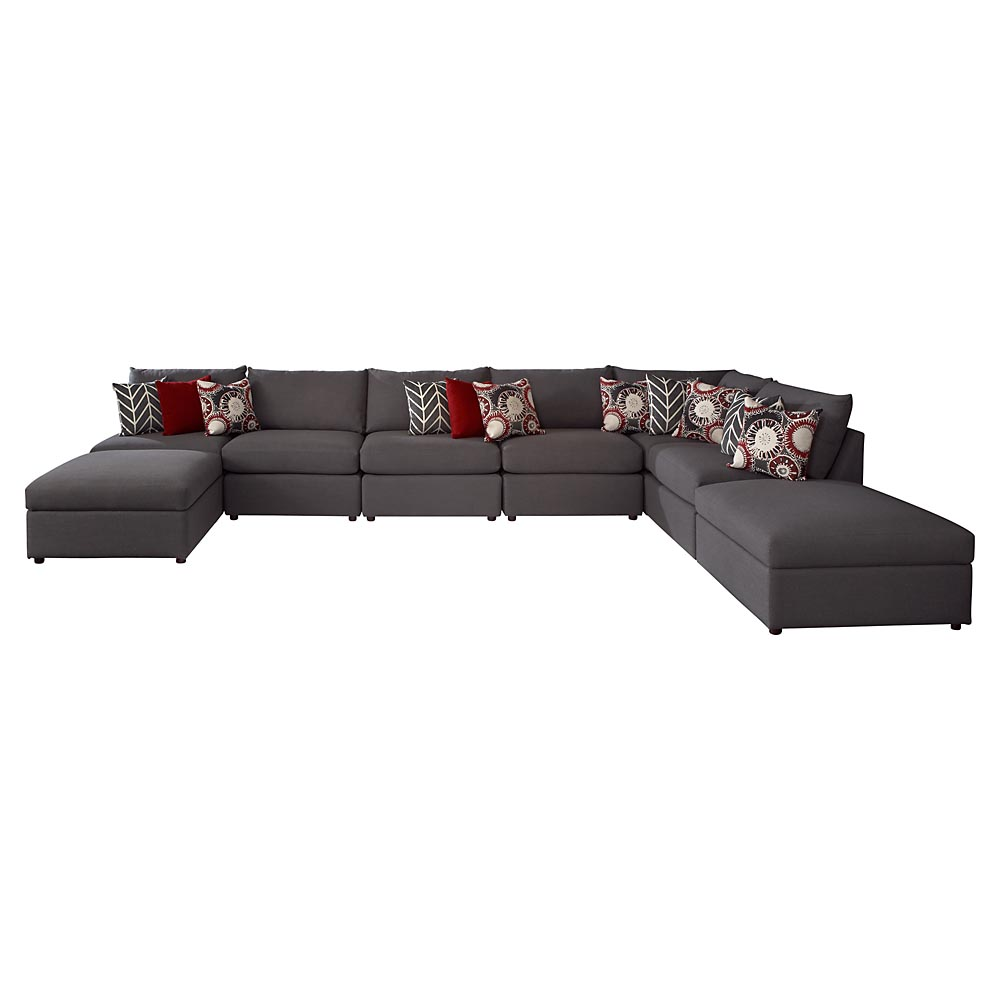 Tufted Sectional Sofa | Large Sectional Sofas | Sofa with Chaise Lounge
