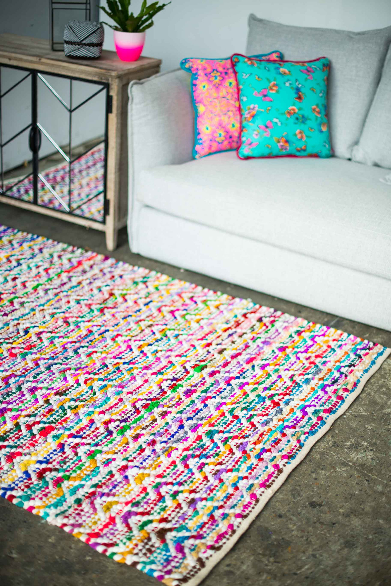 Multi Colored Chevron Rug Roselawnlutheran