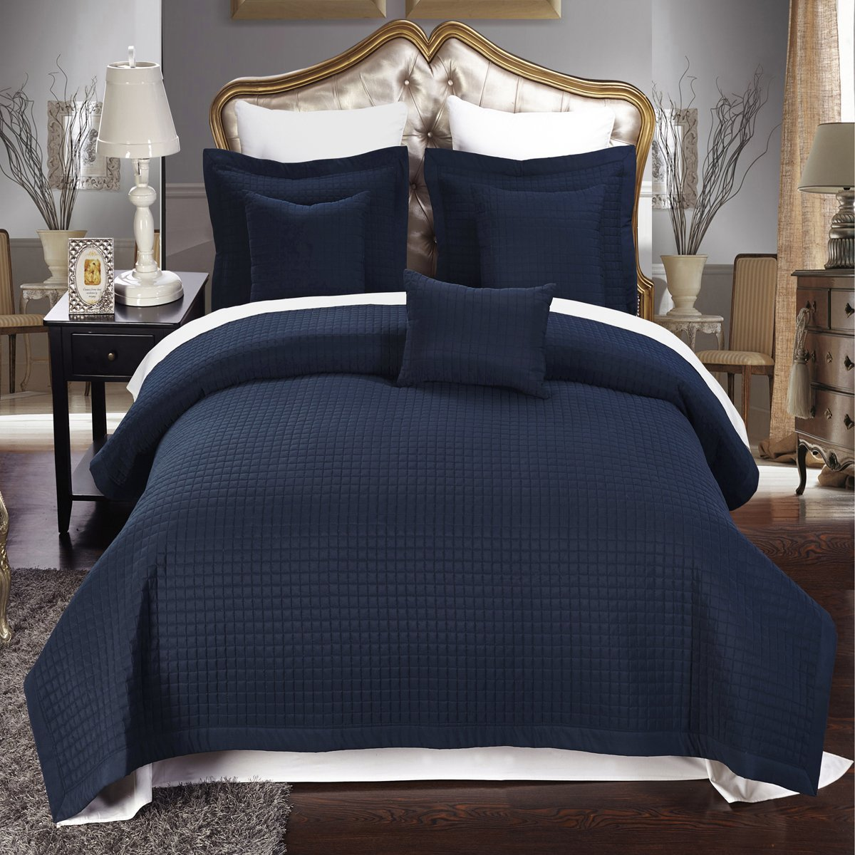 Twin Bed Comforters | Full Size Comforter | Navy Blue Comforter