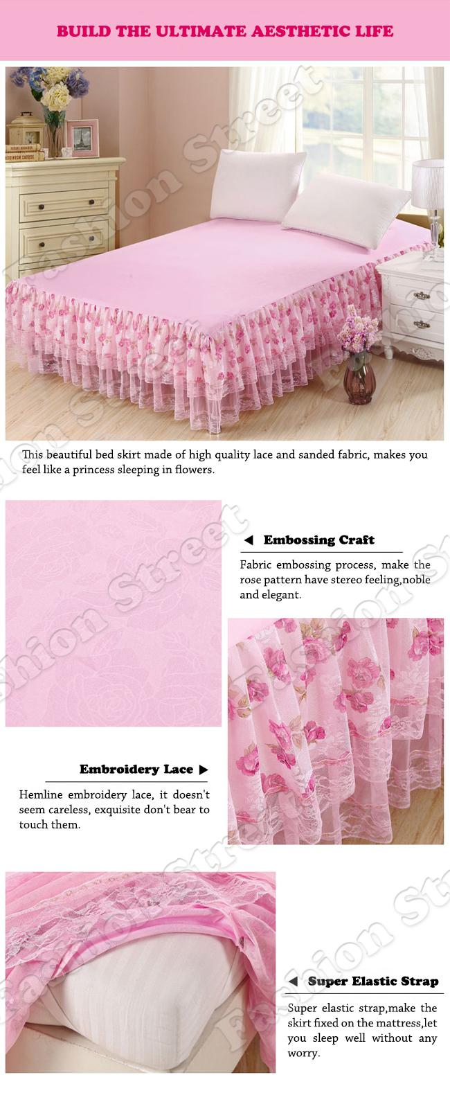 Twin Xl Bedskirt | Bed Skirts Queen | Pink Bedskirt
