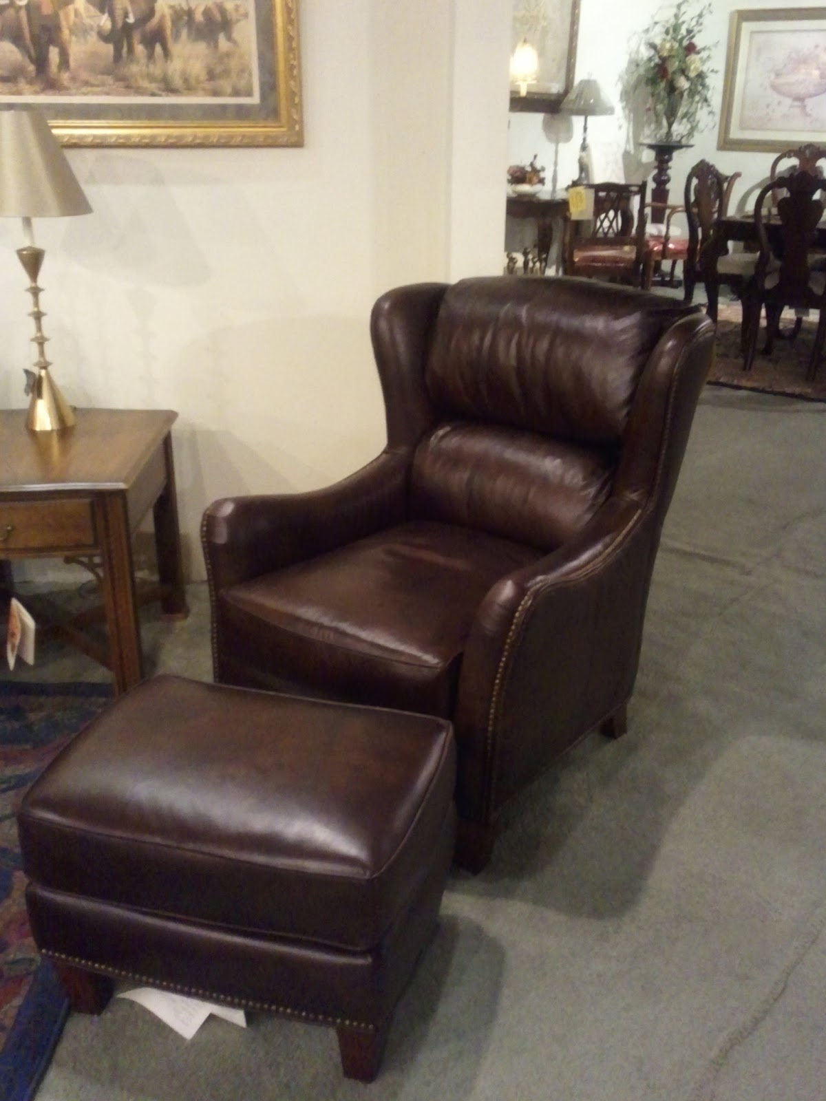 Upholstered Swivel Chair | Leather Chair and Ottoman | Reclining Wingback Chair