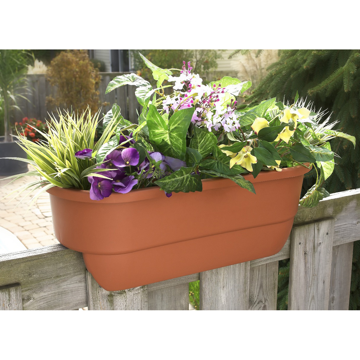Walmart Planter Box | Deck Planter Ideas | Deck Rail Planters