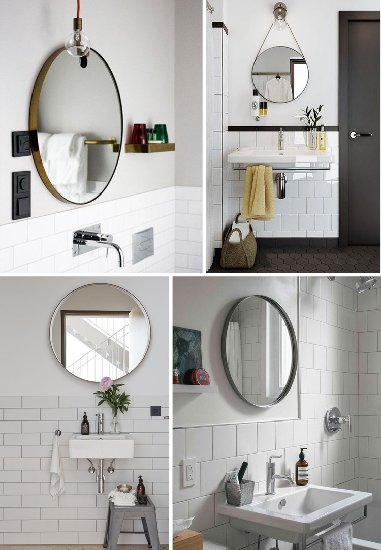 West Elm Round Mirror | Oversized Mirrors | Studded Mirror