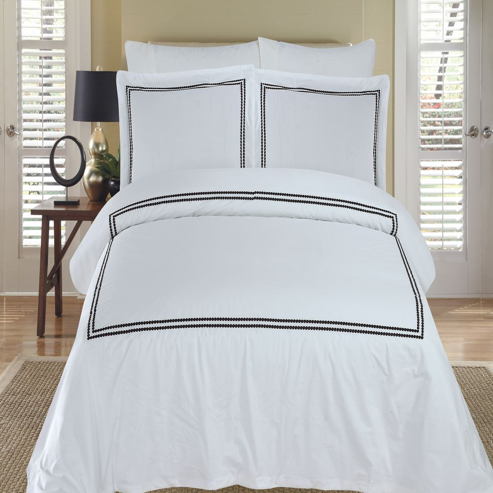 White Black Duvet Cover | Cool Duvet Covers | White Duvet Cover
