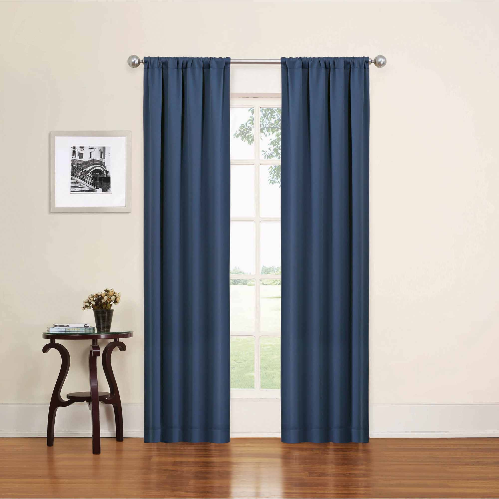 White Curtains With Navy Trim