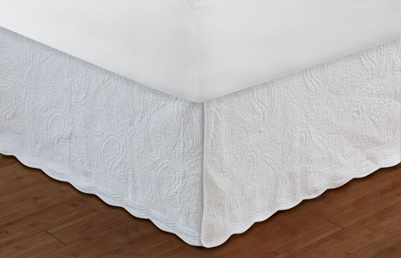 White Queen Bed Skirt | Bed Skirts Queen | Twin Bedskirt