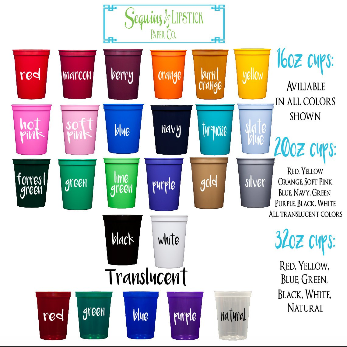 Wholesale Personalized Cups | Personalized Plastic Cups | Cheap Disposable Glasses