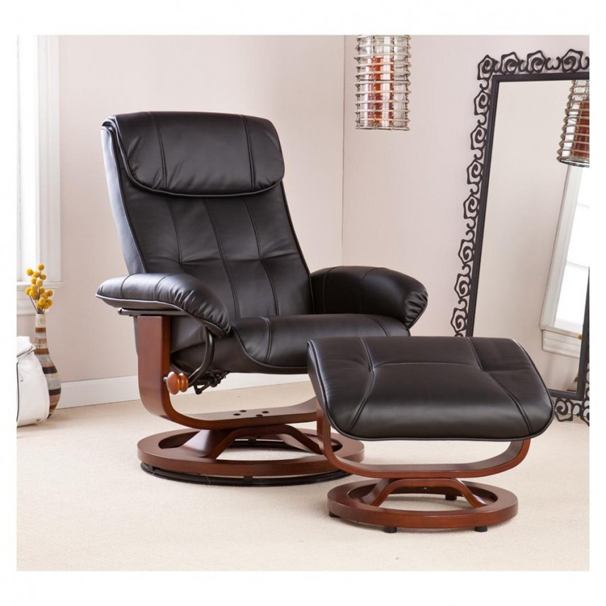 Wingback Accent Chair | Overstock Com Ottomans | Leather Chair And Ottoman