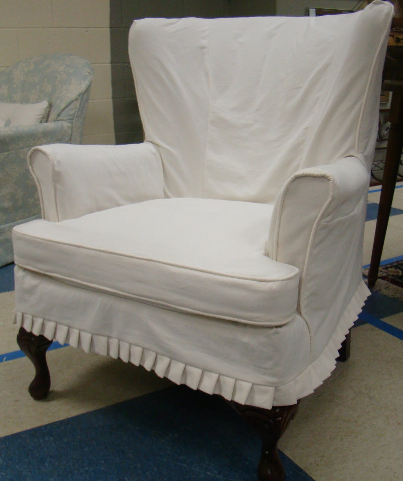 Wingback Chair Slipcover | Oversized Chair Slipcover | Waterproof Couch Cover