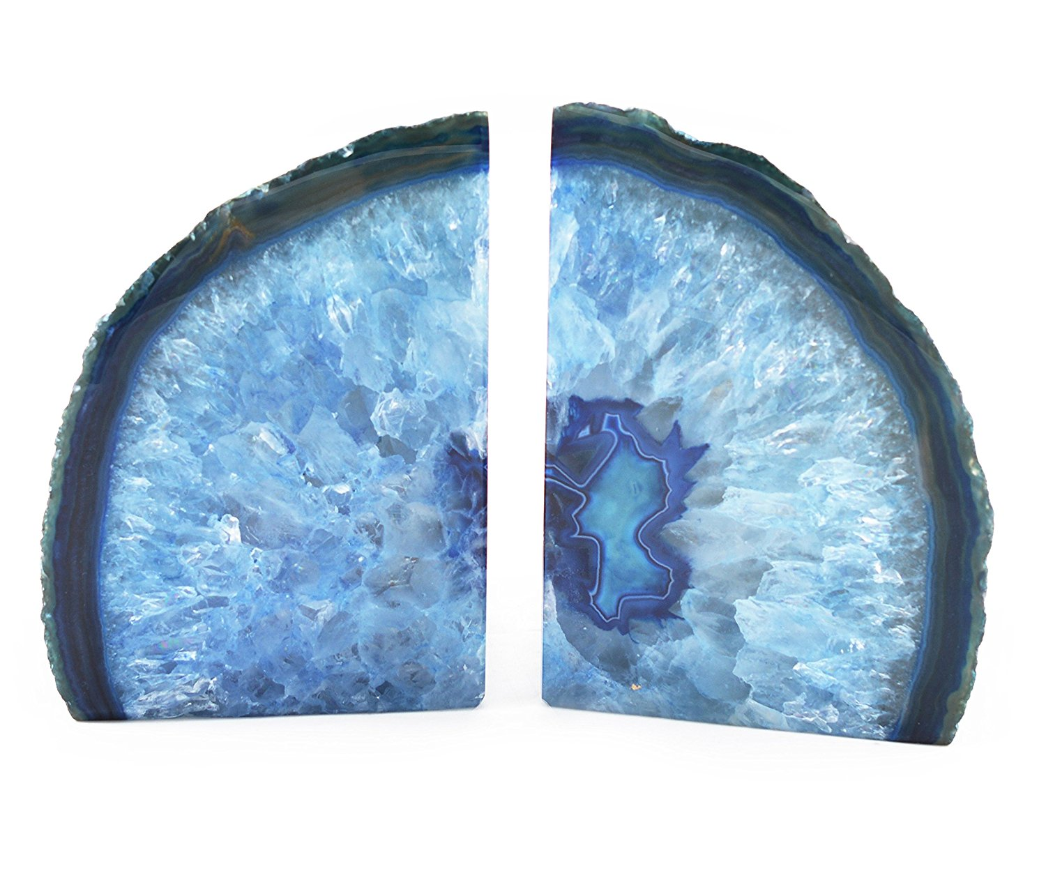 Winsome Crystal Bookends | Appealing Geode Bookends