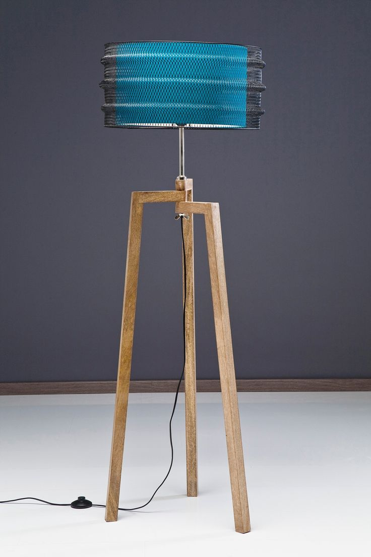 Wood Base Floor Lamp | Tripod Lamp | Tripod Lamp