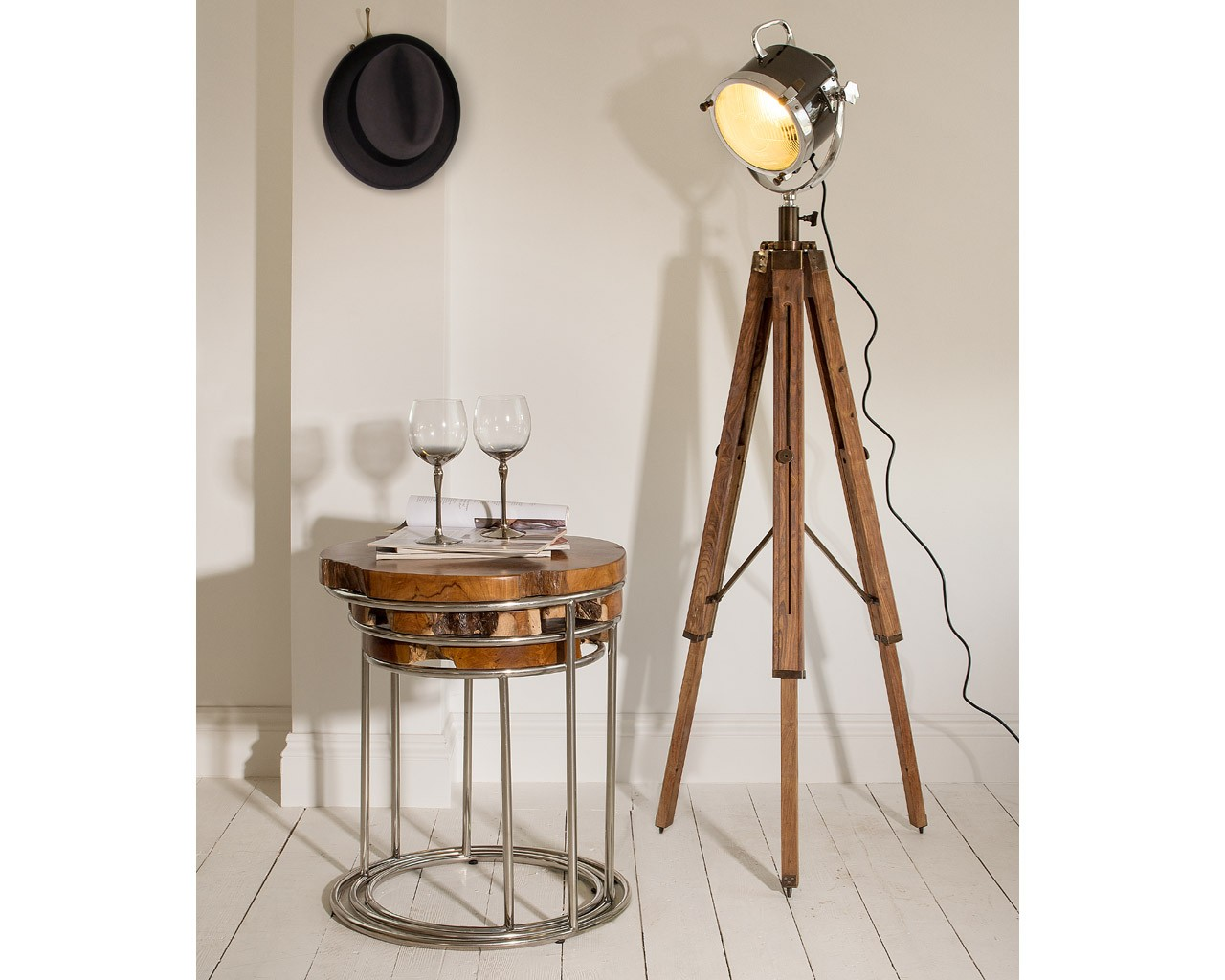Wood Floor Lamps | Large Tripod Floor Lamp | Tripod Lamp