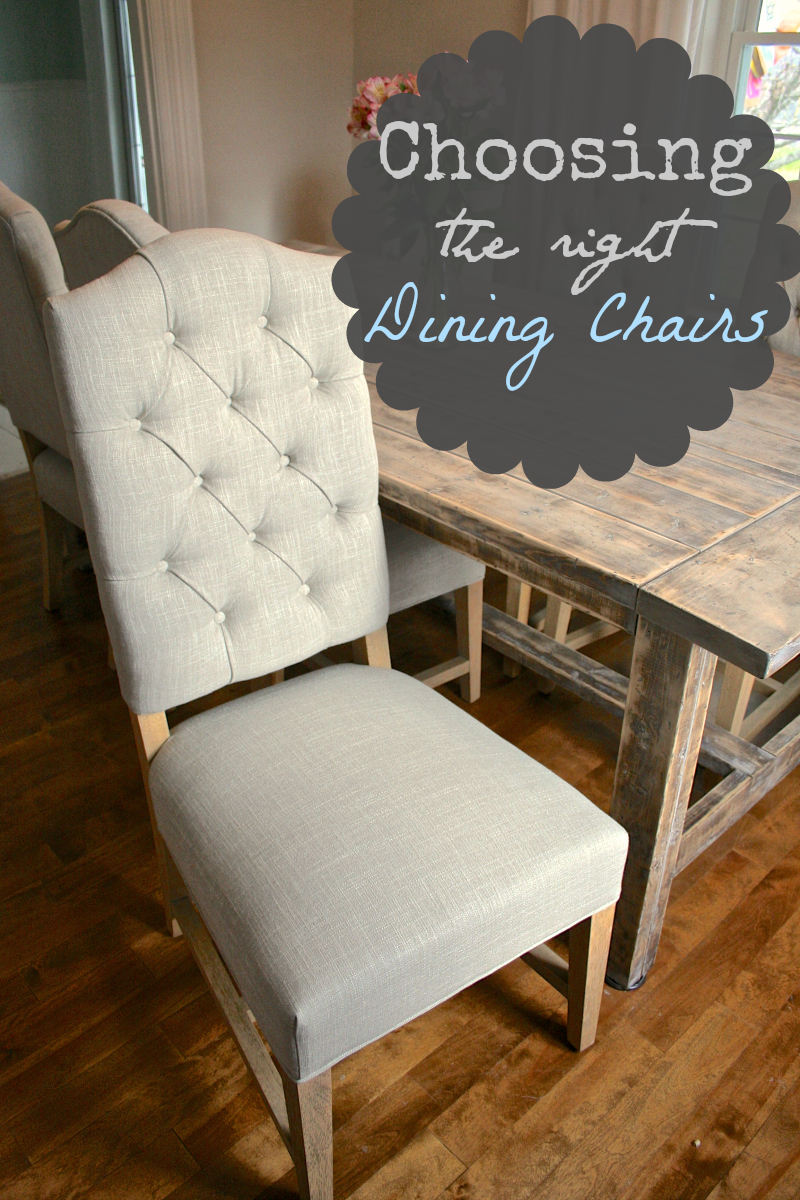 Wooden Dining Chairs | Nailhead Dining Chairs | Tufted Dining Chair