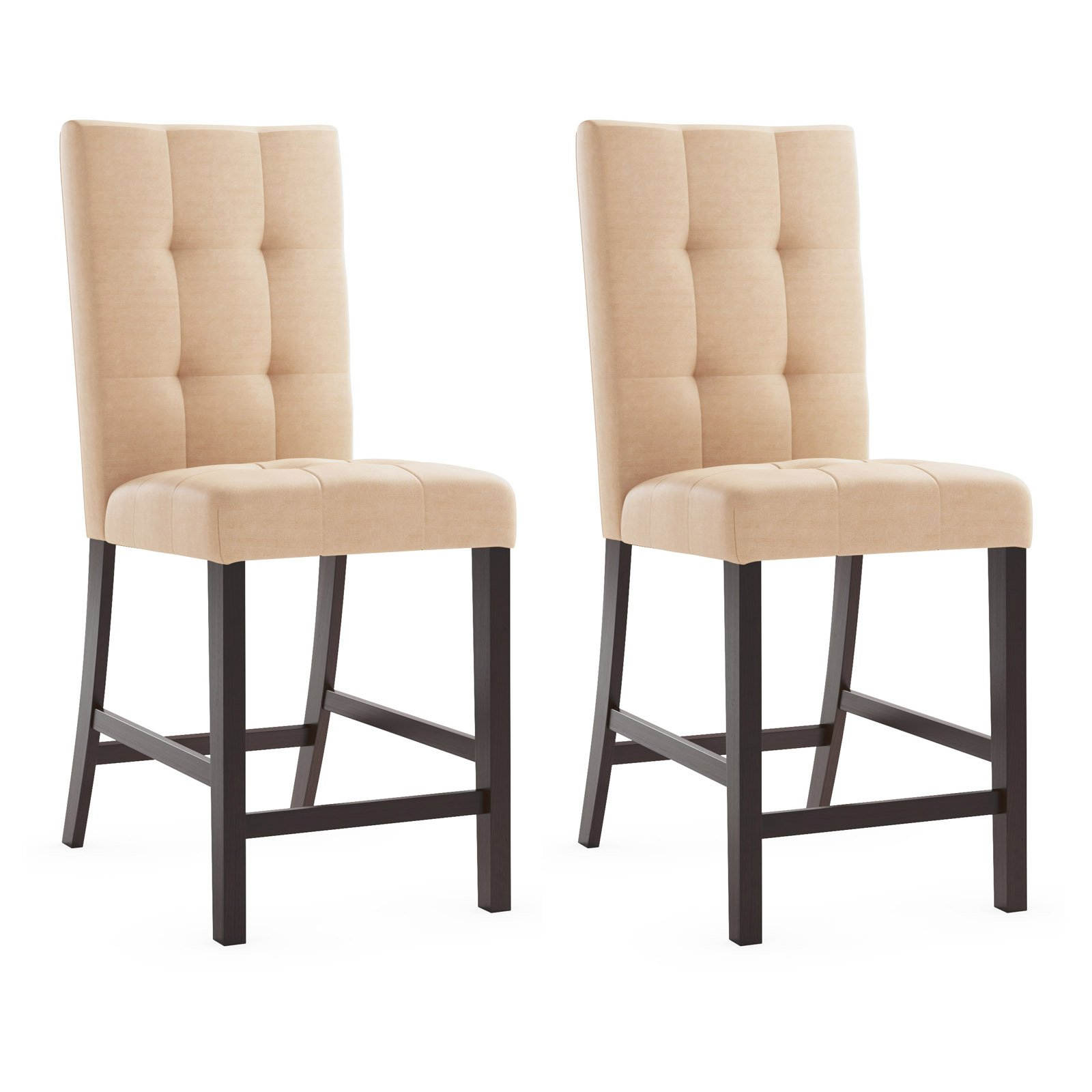 Wooden Dining Chairs | Navy Dining Room Chairs | Tufted Dining Chair