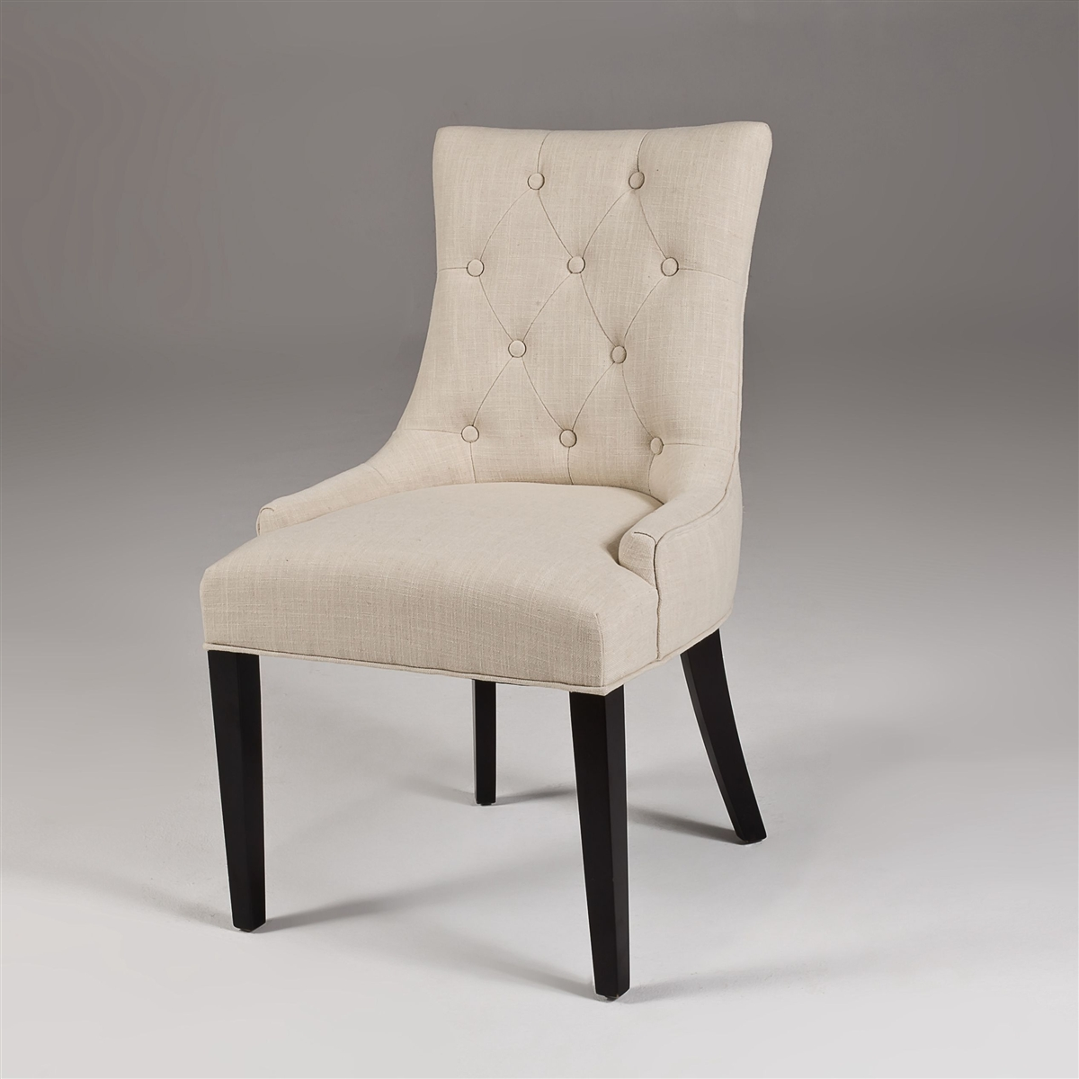 Wooden Dining Chairs   Navy Parsons Chair   Tufted Dining Chair