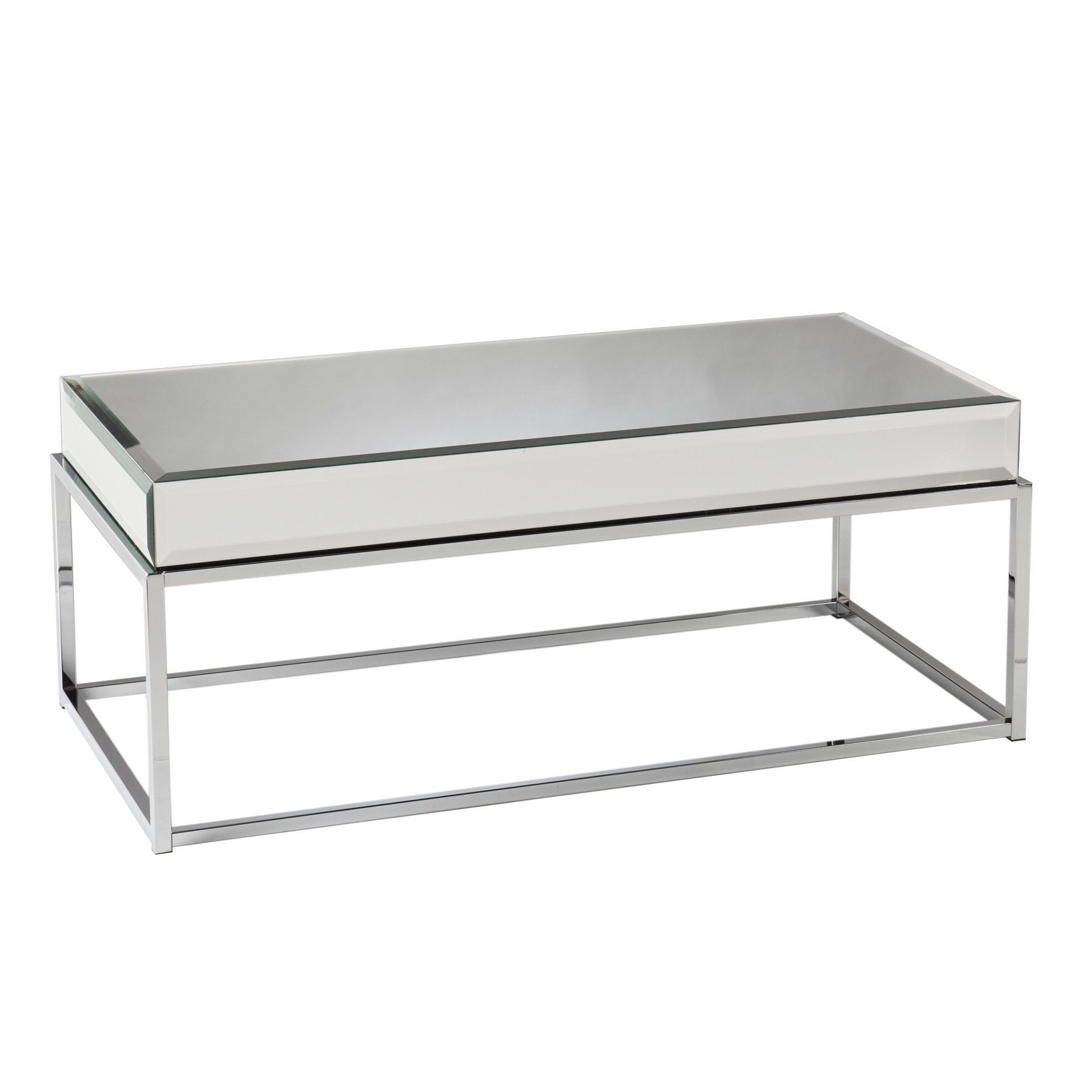 Z Gallerie Mirrored Coffee Table | Mirrored Coffee Table | Glass Nesting Coffee Tables